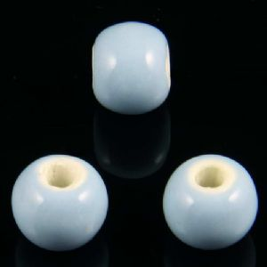 Beads, Porcelain, Light blue , Round shape, Diameter 10mm, 8 Beads, [TCZ0116]